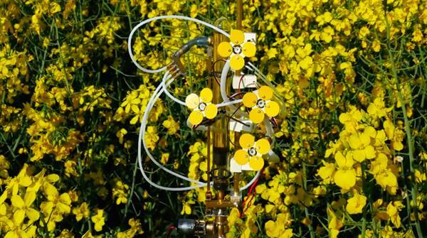 3D printed robotic flowers