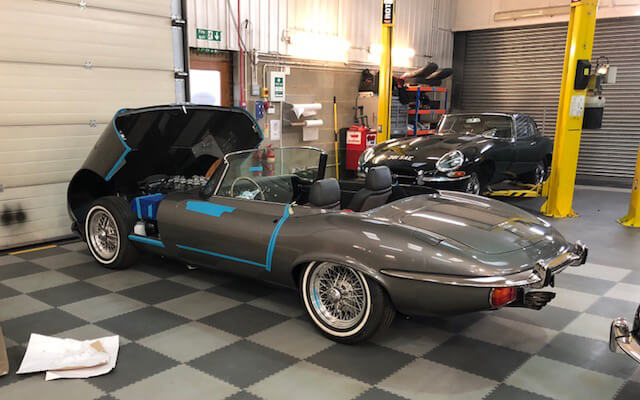 E-Type Jaguar restoration