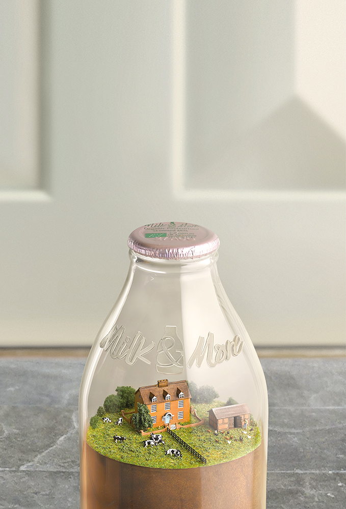 texturing SLS models - farm model for Milk & More