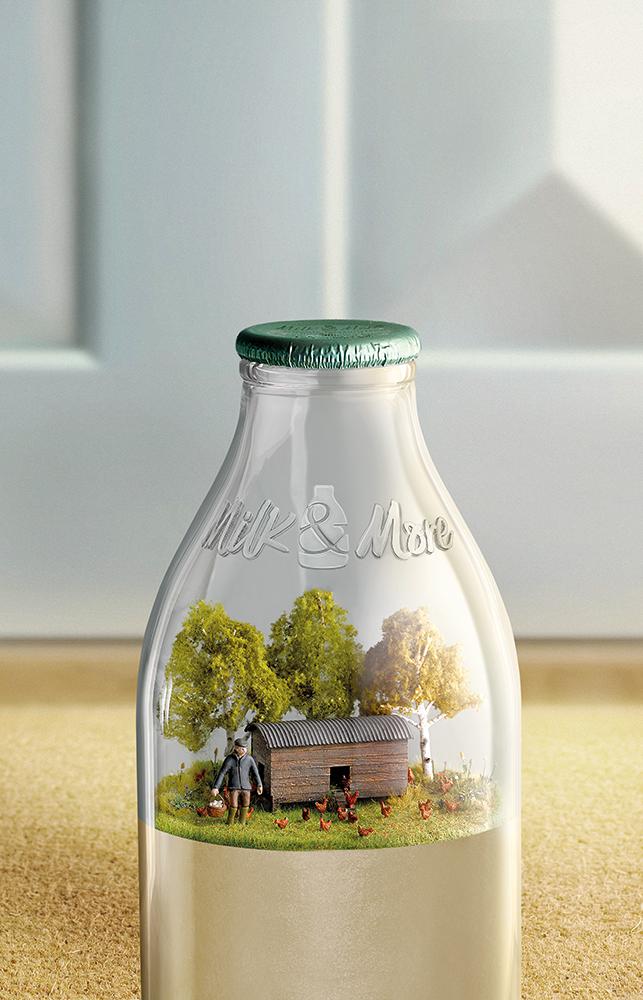 texturing SLS models - hen house for Milk & More